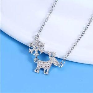 Silver Snowflake Deer Necklace